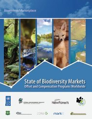 State of Biodiversity Markets Report - Global Environment Facility