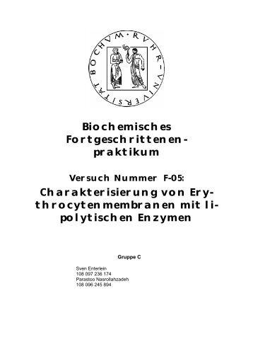 Charakterisierung von Erythrocytenmembranen ... - funnycreature.de