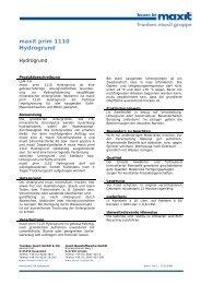 maxit prim 1110 Hydrogrund - maxit Baustoffwerke GmbH