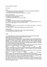 E-news update May 22 2006 In this issue: POLICY 1.1. Canadian ...
