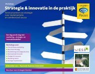 Strategie & innovatie in de praktijk - Focus Conferences