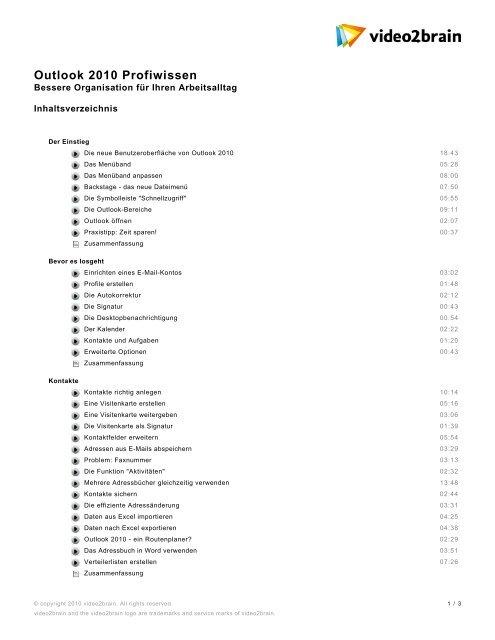Inhaltsverzeichnis Pdf