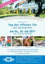 Tag der offenen Tür mit Sommerfest am So., 10. Juli ... - Frankenradar