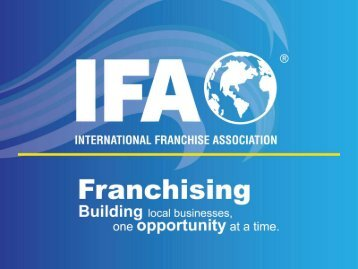 Providing Meaningful Support to Franchisees - International ...