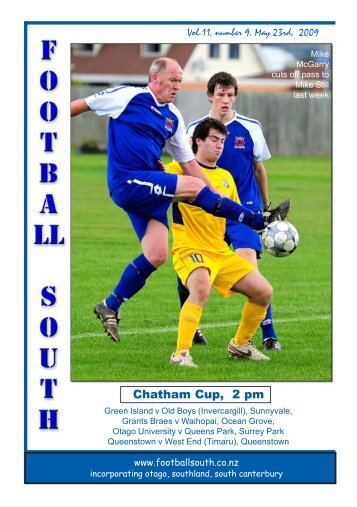 Chatham Cup, 2 pm - Football South