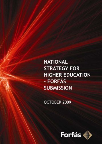 National Strategy for Higher Education - Forfás Submission (PDF