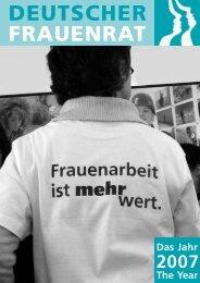 Der Jahresbericht 2007 als Download (568 KB) - Deutscher Frauenrat