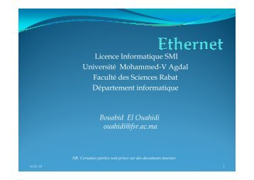 Cours Reseau Local - Faculté des Sciences Rabat