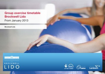 NEW* Group Exercise Timetable April 2013(448kb ... - Fusion Lifestyle