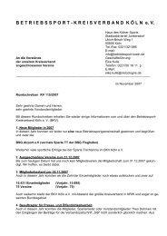 Betriebssport-Kreisverband Köln e.v.