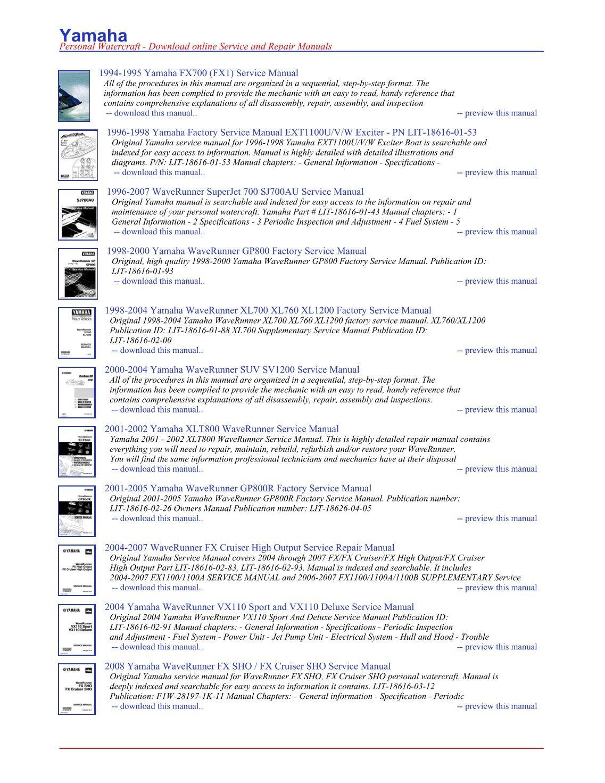 download now yamaha waverunner wave runner gp800 gp 800 gp800r 01 05 service repair workshop manual