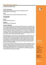 Bildungsurlaub - Programm Lemberg 2013 - Forum Unna