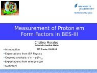 Measurement of Proton em Form Factors in BES-III - Fisica