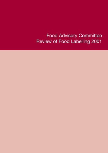 Review of Food Labelling - Food Standards Agency