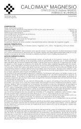 calcimax magnesio prosp 4/06 - Gador SA