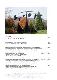 2011 Kleine Karte Herbst - Fondation Beyeler