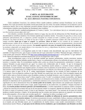 july, august, september 2005 - Fraternidad Rosacruz Max Heindel ...