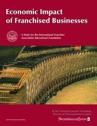 The Economic Impact of Franchised Businesses - International ...