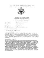 Official Court Reporter to U S  District Judge Vacancy