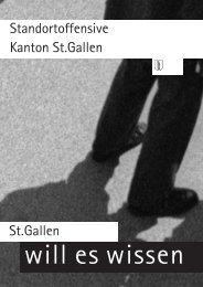 St.gallen Standortoffensive Kanton St.gallen