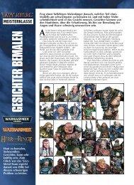 White Dwarf: Gesichter bemalen - Games Workshop
