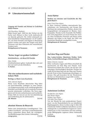 19 Literaturwissenschaft
