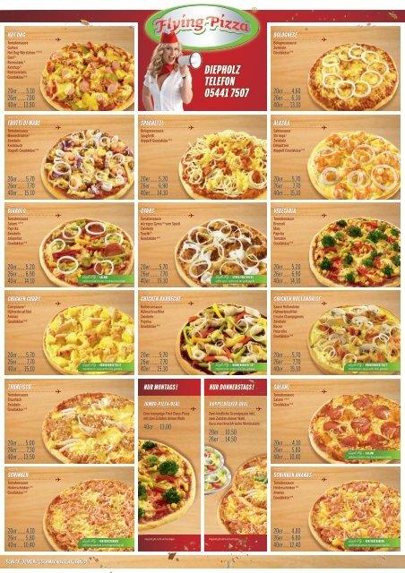 Flying Pizza Karte.Pdf Speisekarte Zum Download Flying Pizza