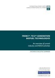 From 1st- to 2nd-Generation BioFuel technoloGies - IEA Bioenergy