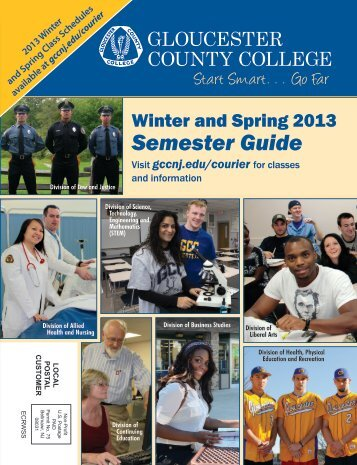 Winter and Spring 2013 Semester Guide - Gloucester County College