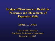 Design of Structures to Resist the Pressures and Movements of ...