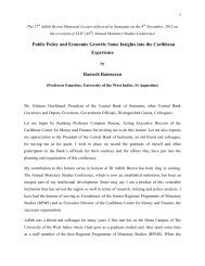 Public Policy and Economic Growth: Some Insights into the ...