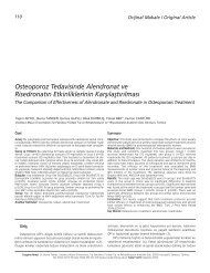 Osteoporoz Tedavisinde Alendronat ve Risedronat›n ... - FTR Dergisi
