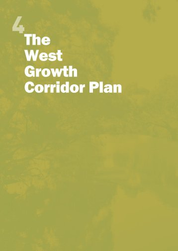 The West Growth Corridor Plan - Growth Areas Authority