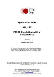 FT232 Emulation with a Vinculum-II - FTDI