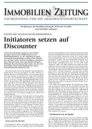 Initiatoren setzen auf Discounter - Habona Invest