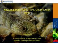 New Zealand's 100% Pure, Clean-Green myth - Forest and Bird