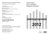 Jahresprogramm der Kirchenmusik St. Laurentius [ pdf | Größe: 344