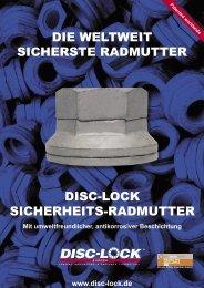 die weltweit sicherste radmutter disc-lock sicherheits-radmutter