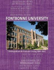 Course Catalog, 2009-2011 - Fontbonne University