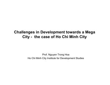 the case of Ho Chi Minh City