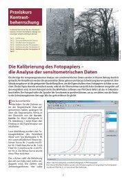 Die Kalibrierung des Fotopapiers – die Analyse der ... - Fotoespresso