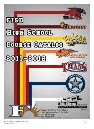High School Course Catalog - Frisco ISD