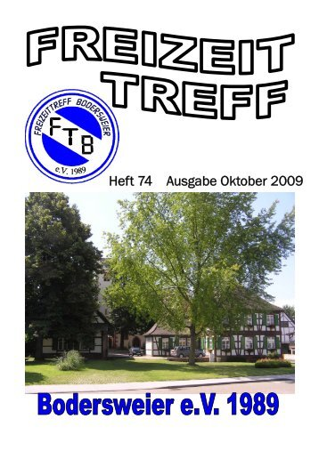 Heft 74 Ausgabe Oktober 2009 - FTB