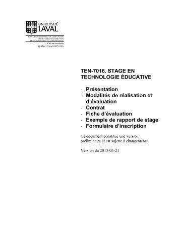 Guide - Faculté des sciences de l'éducation - Université Laval