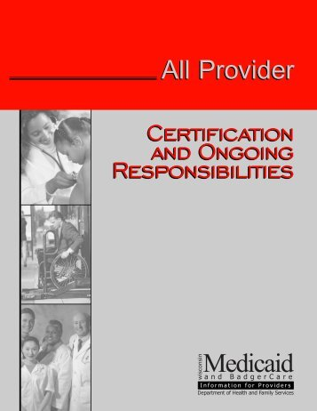 Certification and Ongoing Responsibilities - Wisconsin.gov