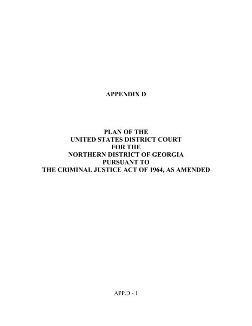 Ndga Rules App D United States District Court For The Northern