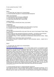 E-news update November 7 2005 In this issue: POLICY 1.1. EU ...