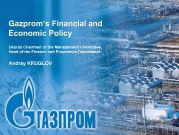 Graphics Induction Presentation - Gazprom