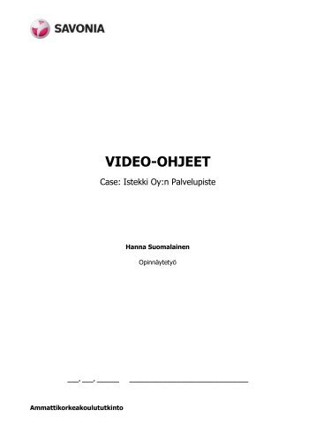 VIDEO-OHJEET - Theseus