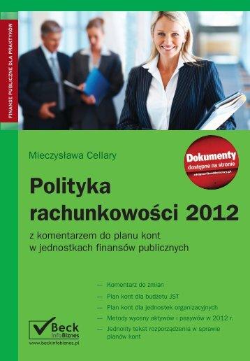 Polityka rachunkowości 2012 - Gandalf